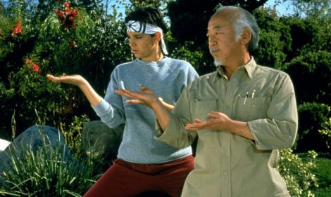 The Karate Kid Daniel and Miyagi