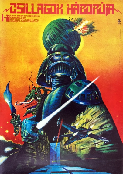Star Wars Hungarian poster