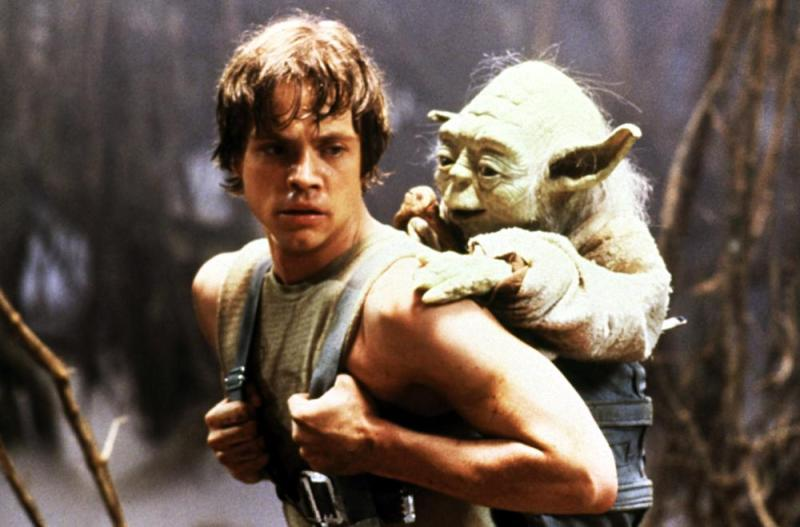 The Empire Strikes Back Luke and Yoda