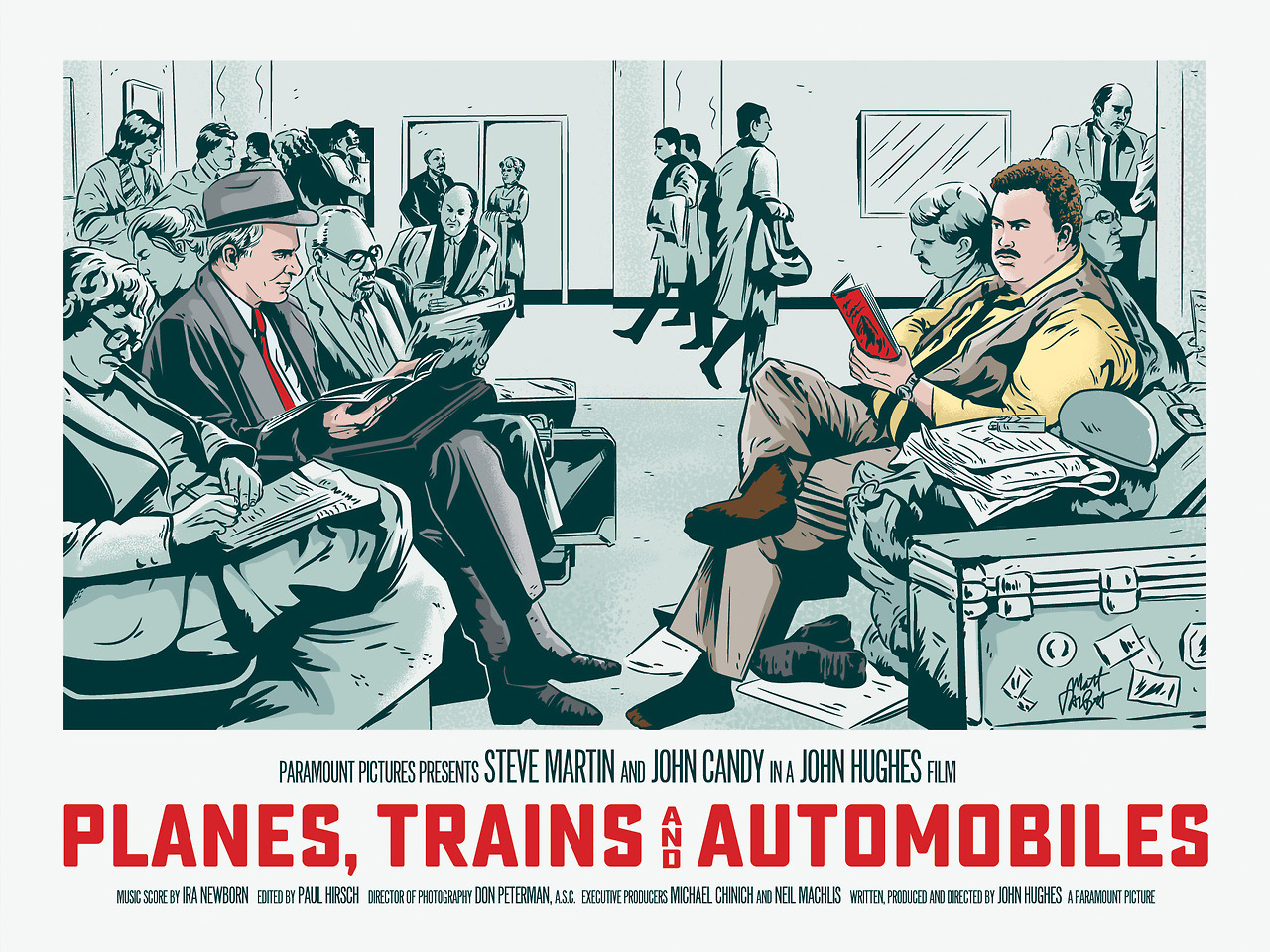 Planes Trains and Automobile fan poster