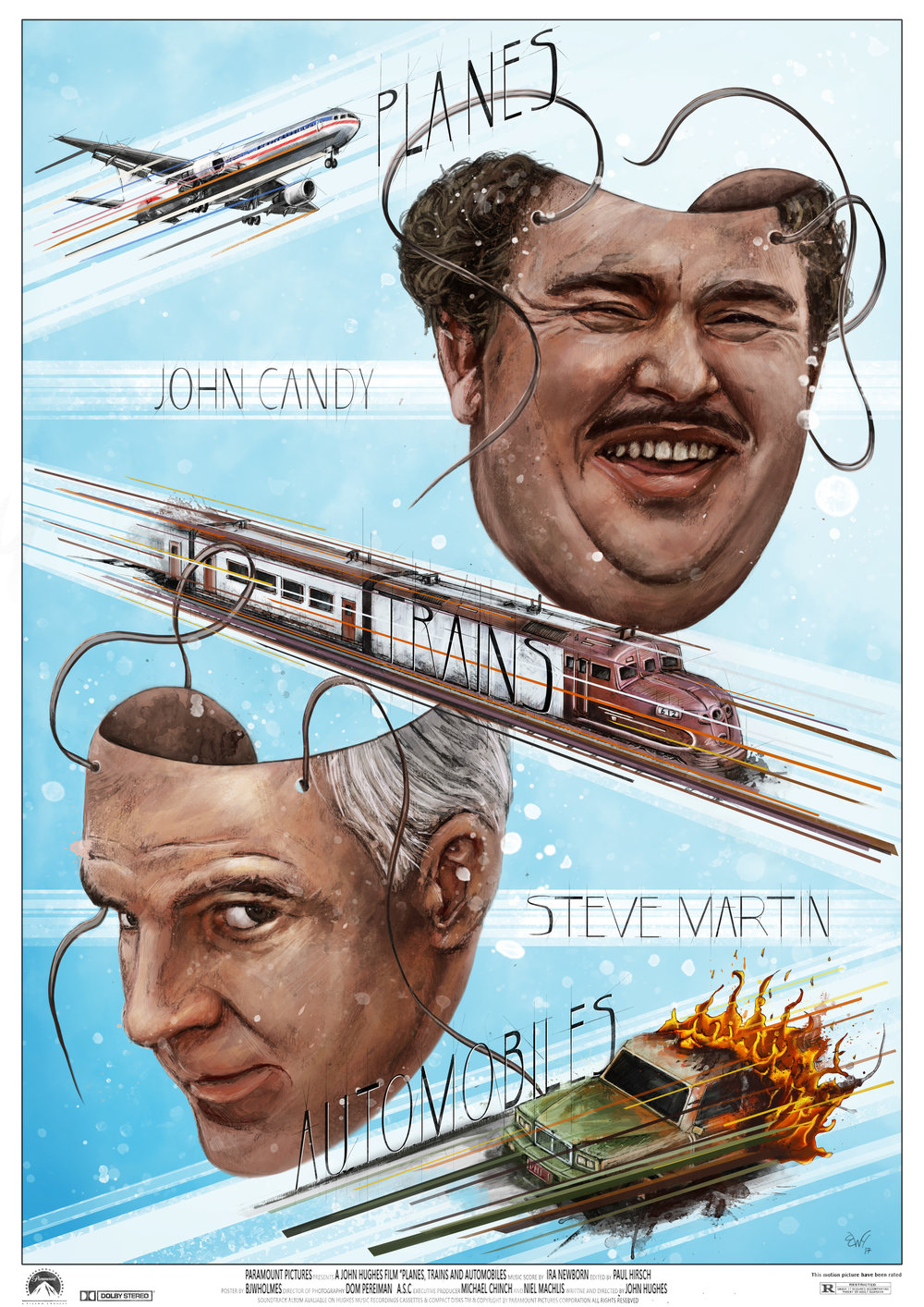 Planes Trains and Automobile poster Ben Holmes