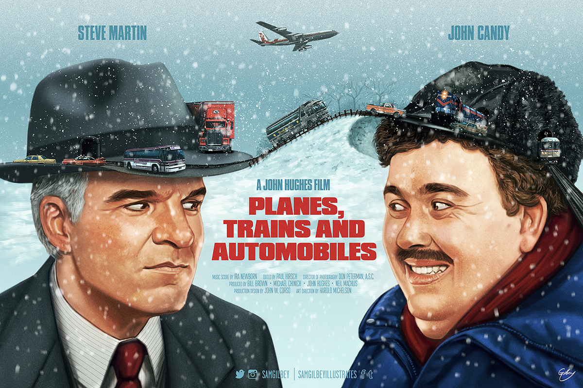 Planes Trains and Automobile poster Sam Gilbey 2