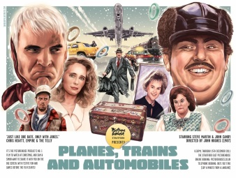 Planes Trains and Automobile poster Sam Gilbey