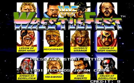 WWF Wrestlefest Opening Screen