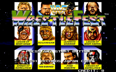 WWF Wrestlefest Opening Screen