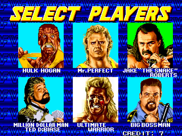WWF Wrestlefest Select Players