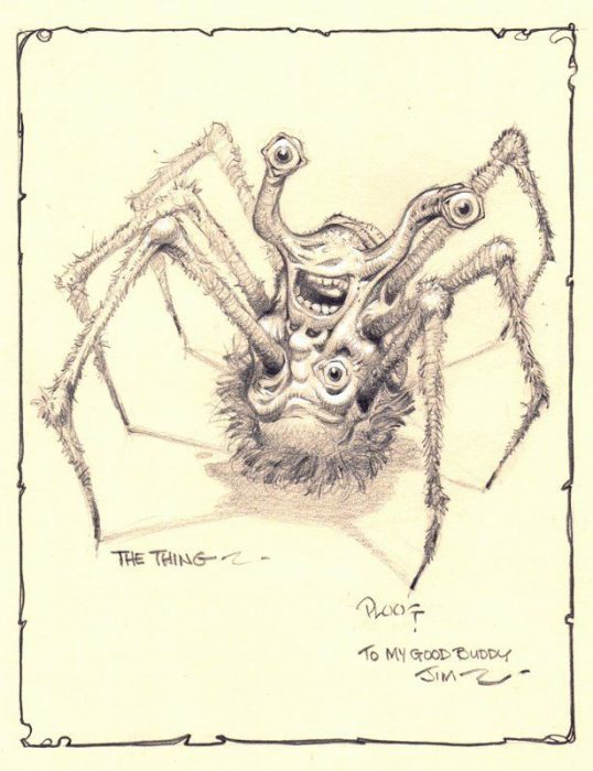 The Thing original sketch Ploog
