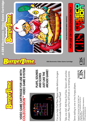 BurgerTime Colecovision
