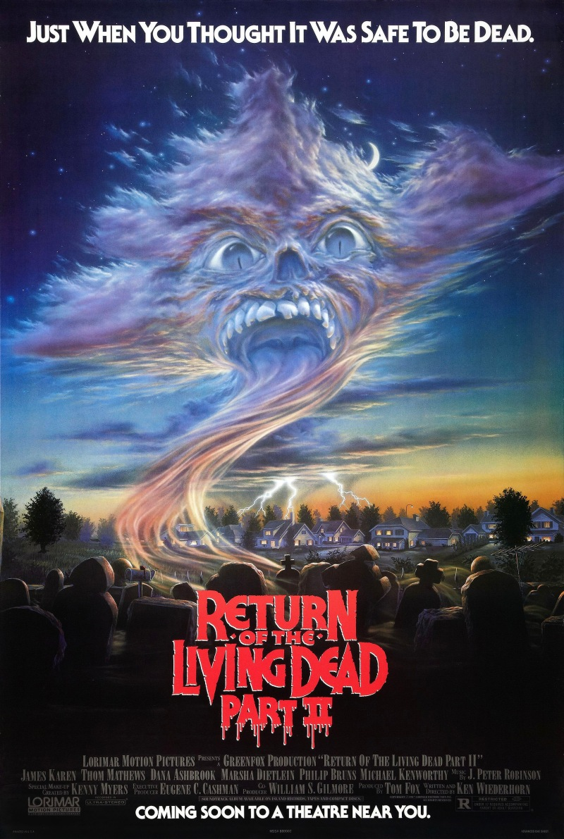 Return of the Living Dead Part II poster