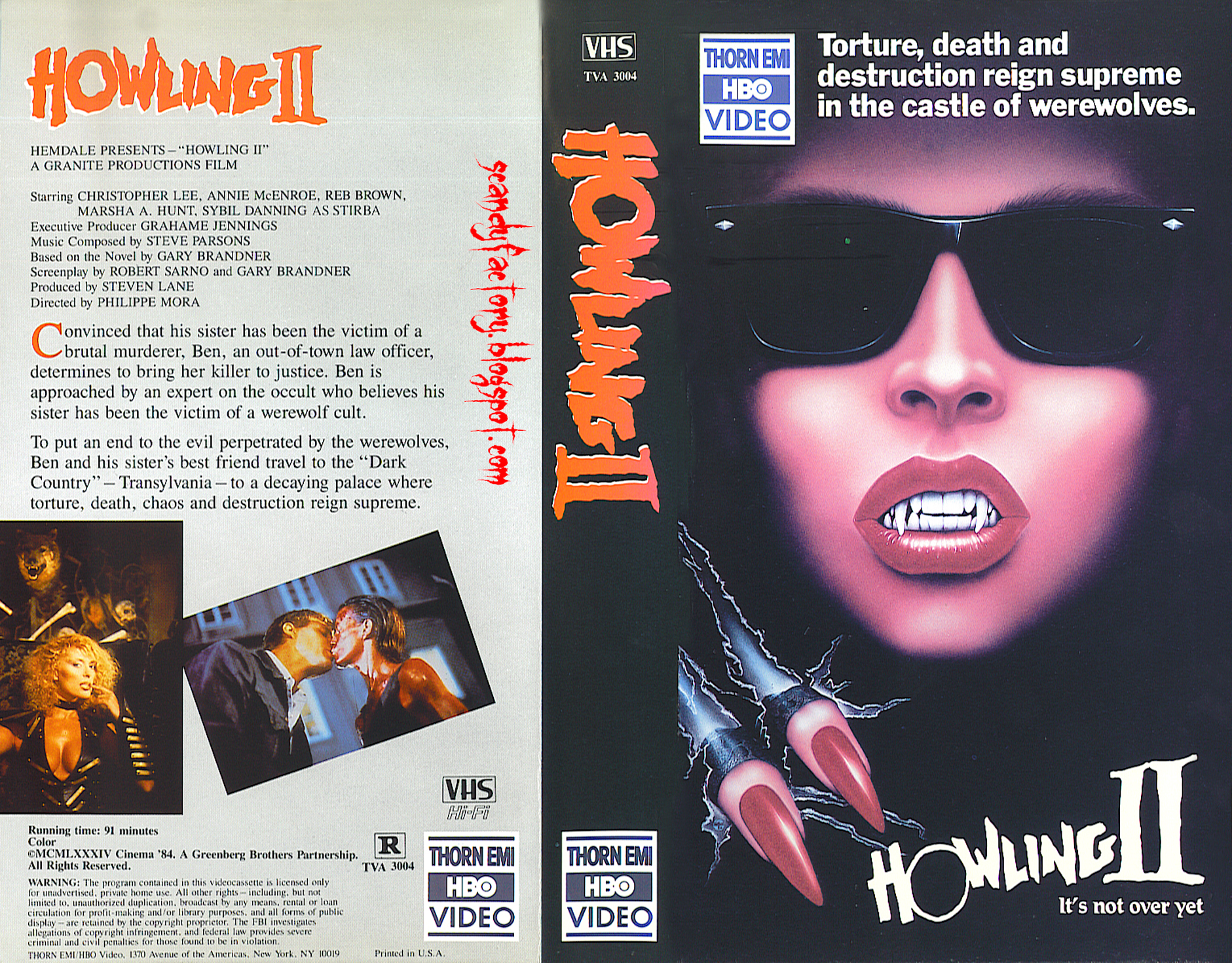 Howling 2 VHS