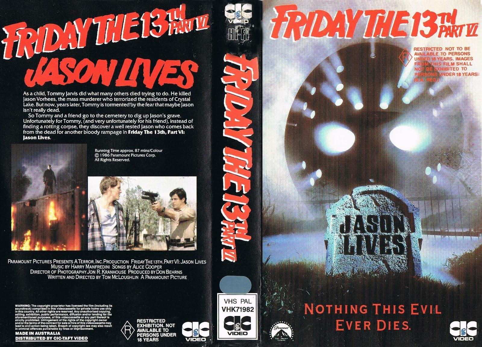 Jason Lives VHS