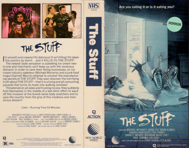 The Stuff VHS