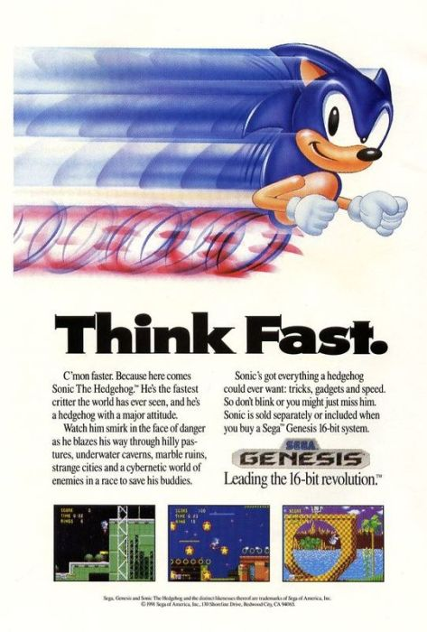 Sonic think fast