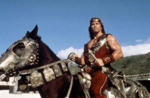 Red Sonja Arnie horseback