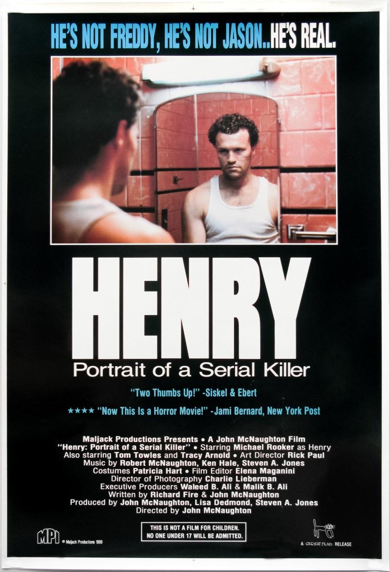 Henry Portrait of a Serial Killer poster