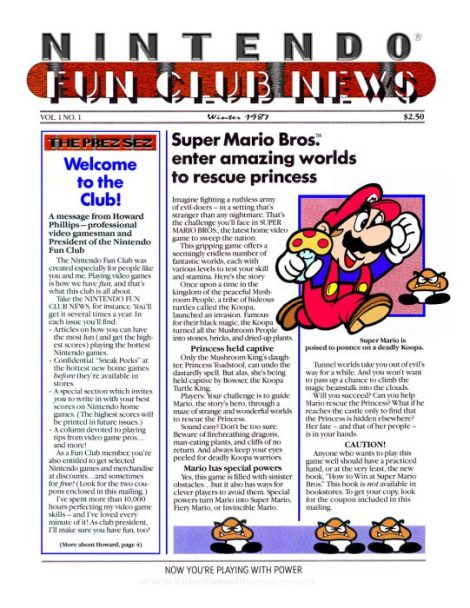 Nintendo Fun Club News