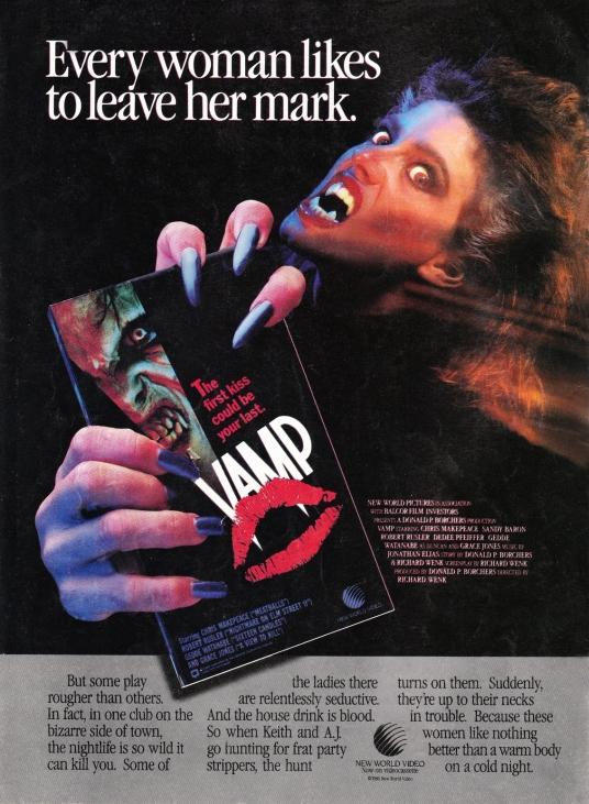 Vamp VHS ad