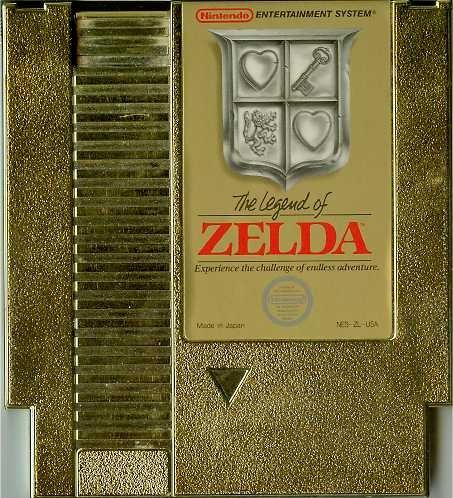Zelda gold cartridge