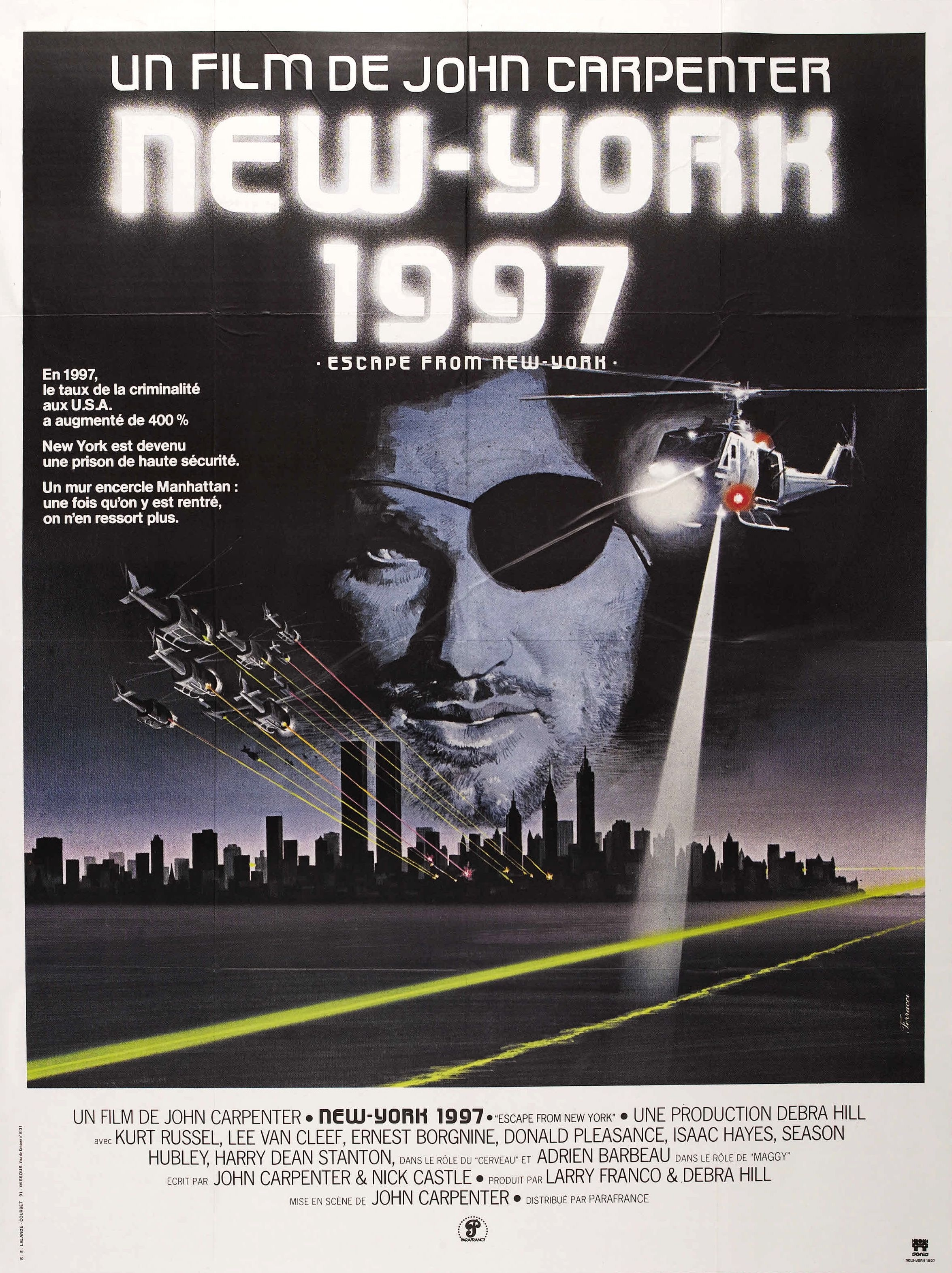Escape From New York French poster