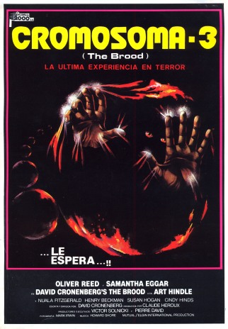 The Brood Spanish poster