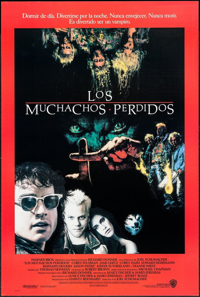 The Lost Boys Spanish poster