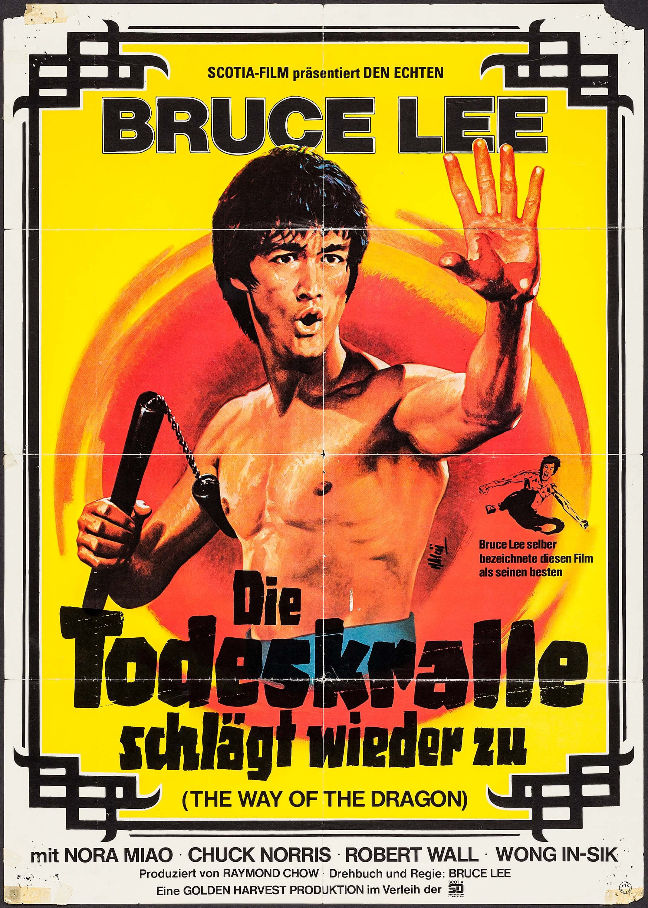 Way of the 龙 German poster