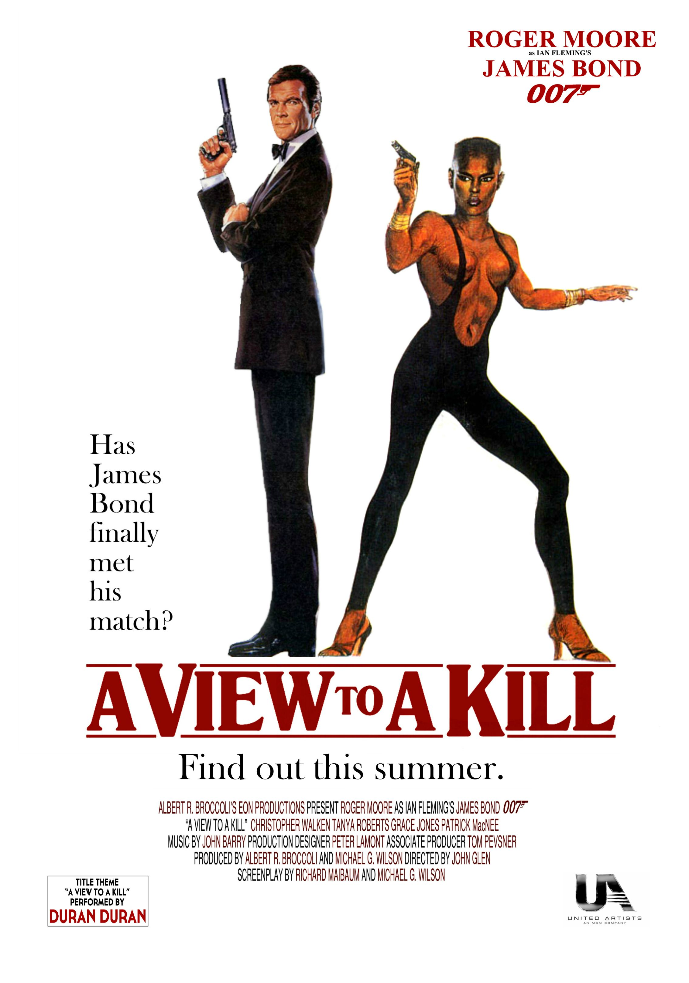 A View to a Kill alternate poster 4