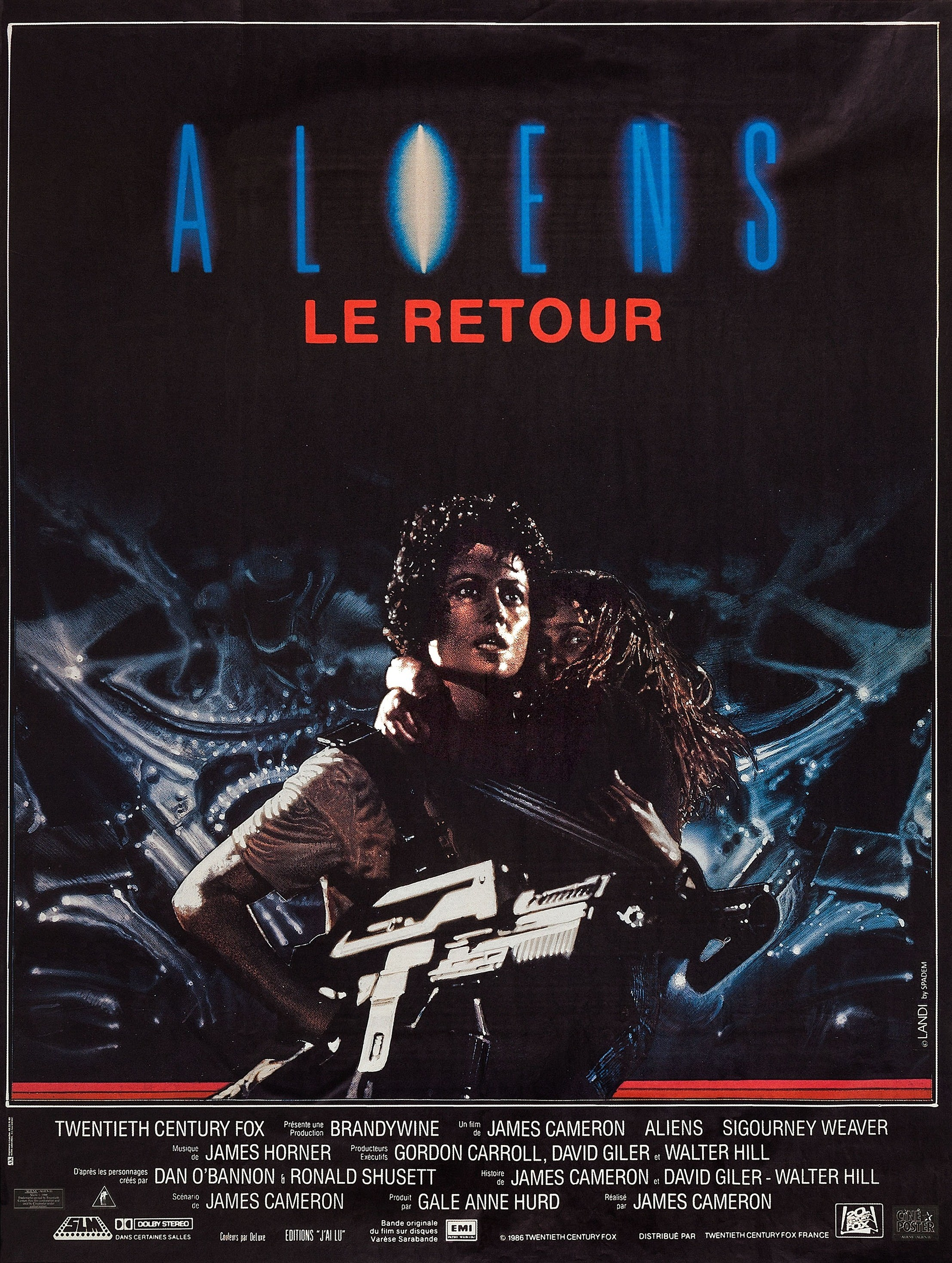 Aliens French poster
