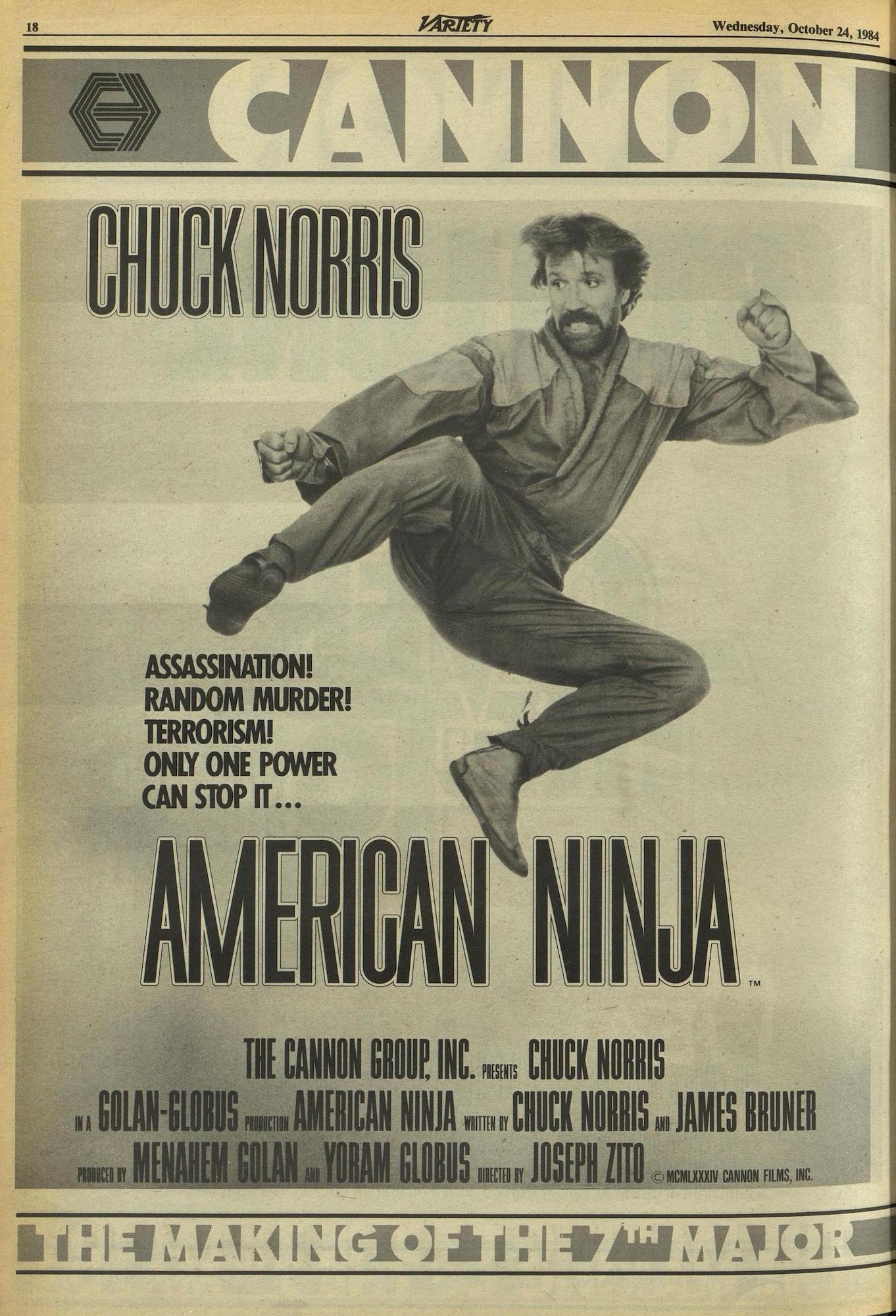 American Ninja Chuck Norris ad
