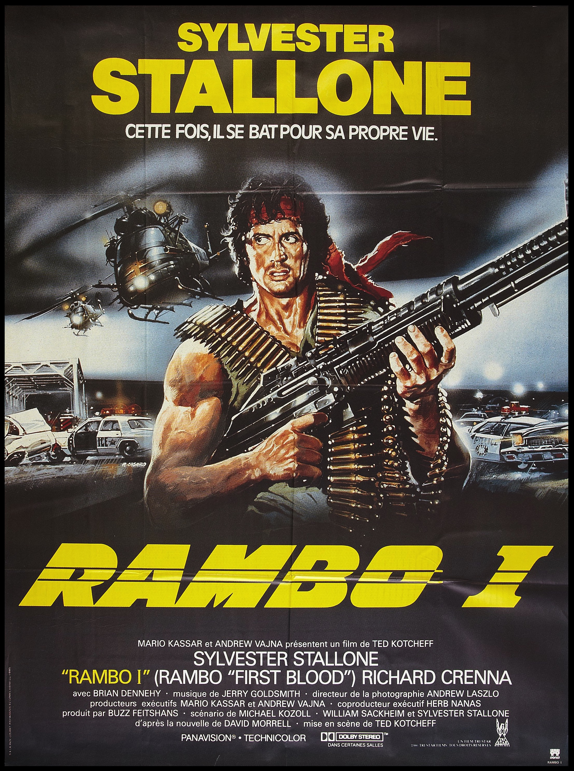 Rambo First Blood French poster