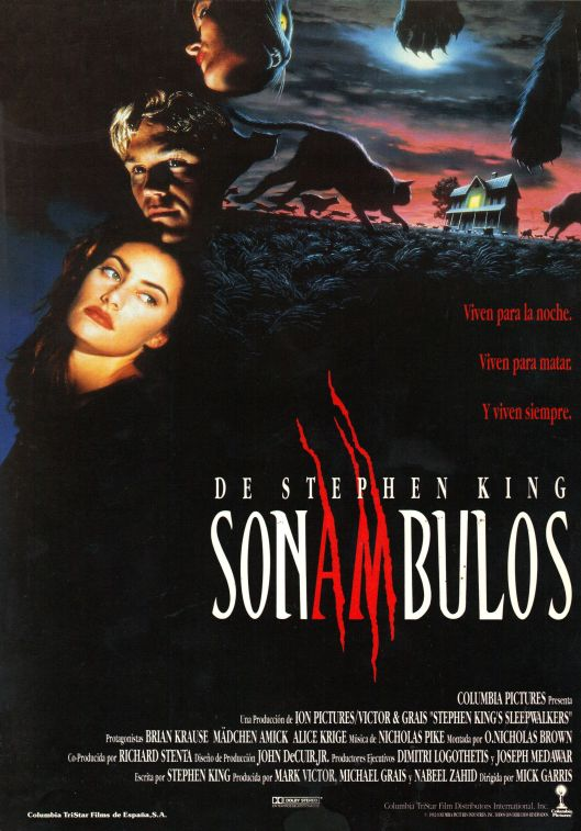 Sleepwalkers Spanish poster