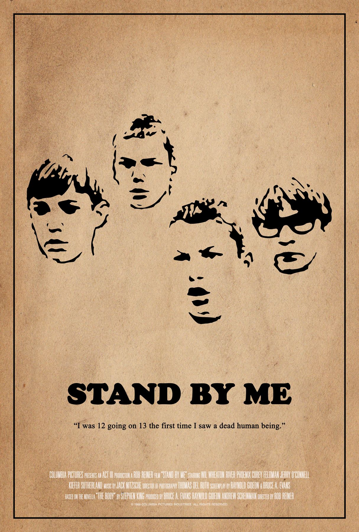 Stand By Me Poster Scott Saslow