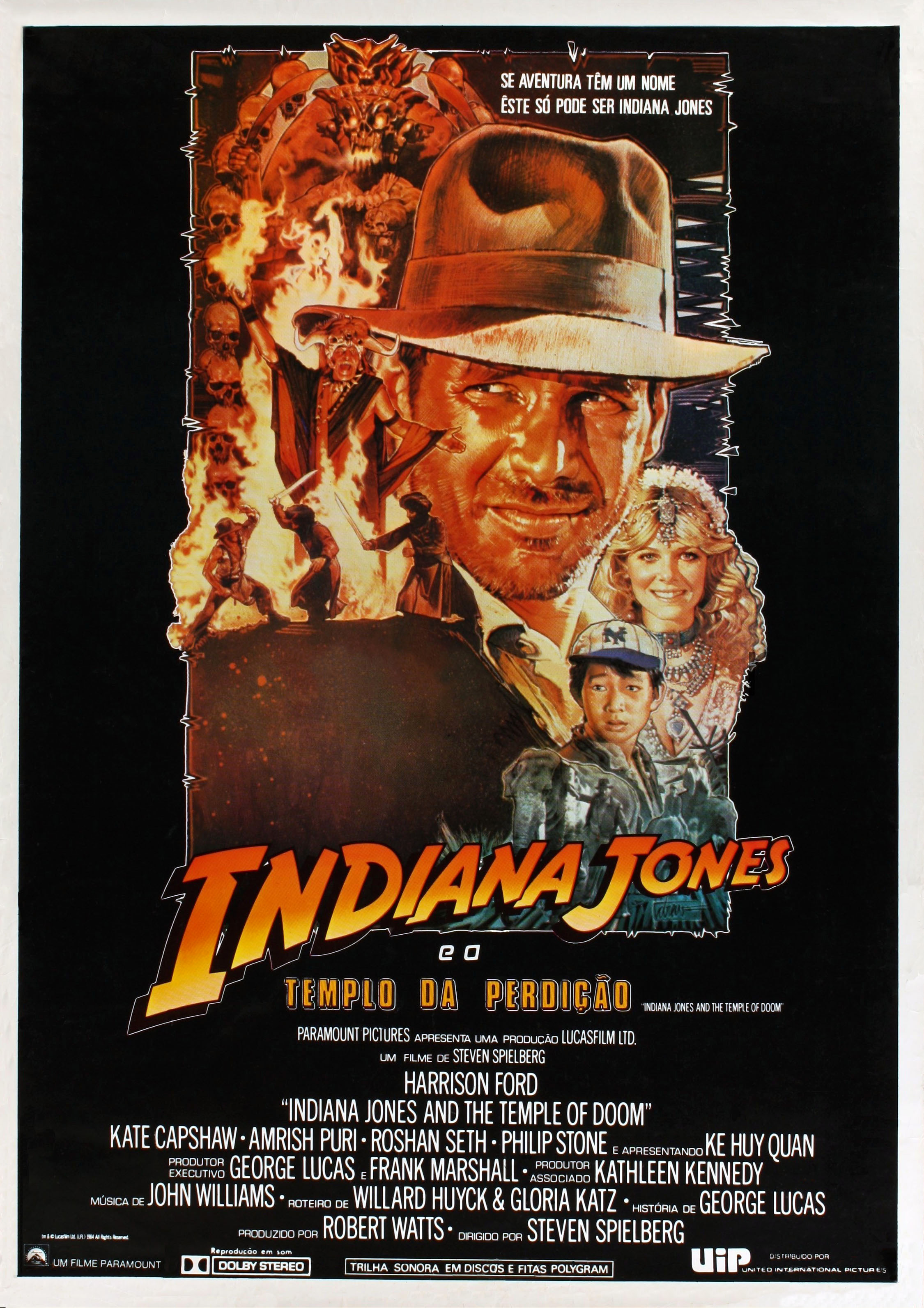 Temple of Doom Spanish poster