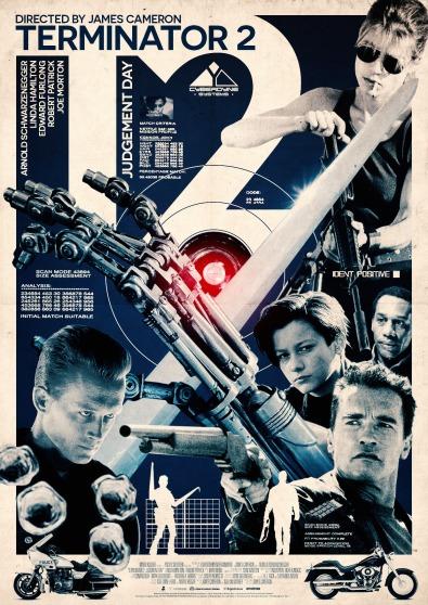 Terminator 2 poster Michael Georgiou
