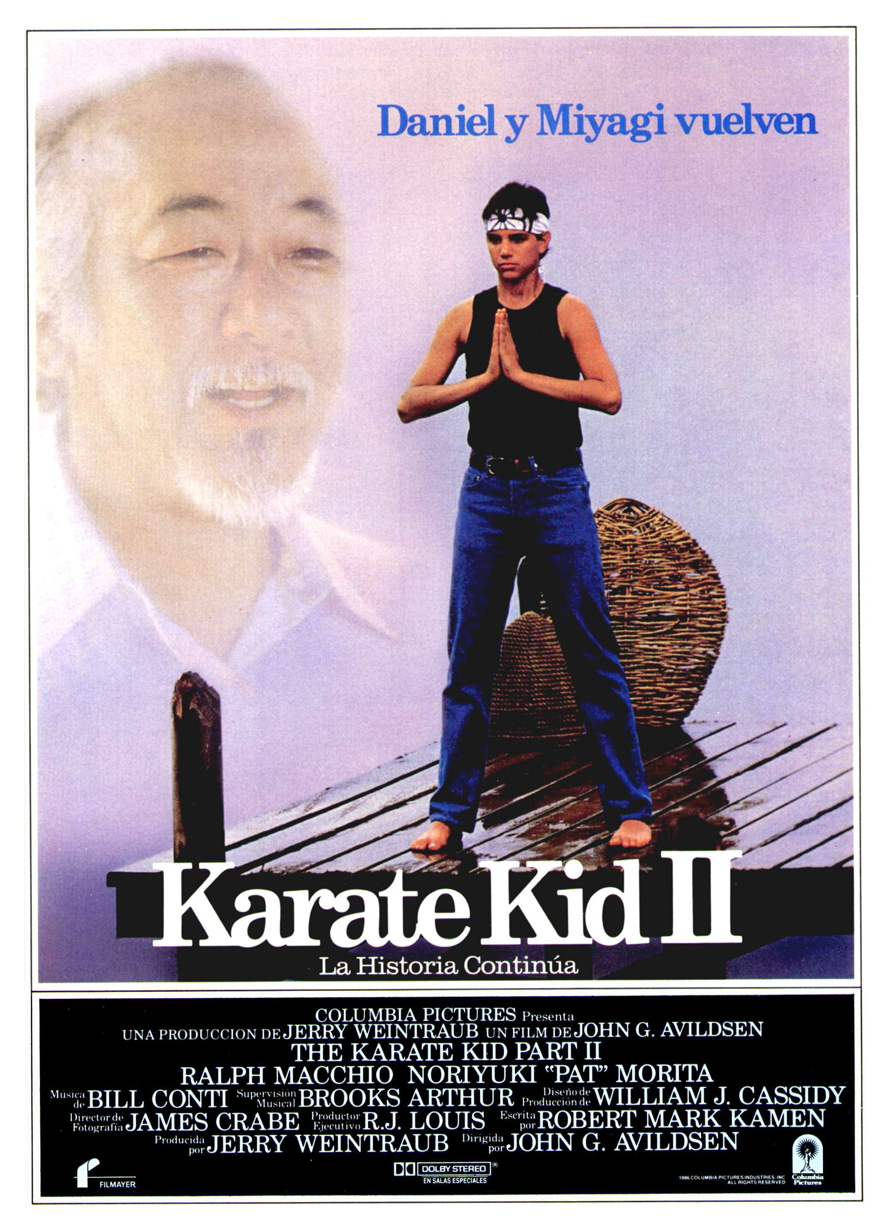 The Karate Kid Part II Spanish poster
