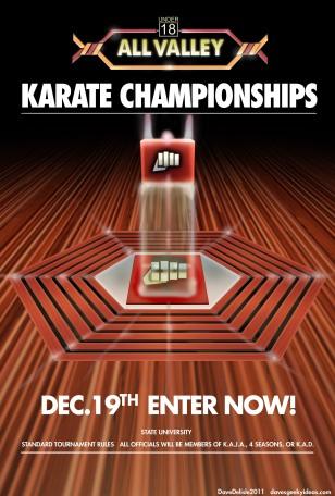 The Karate Kid tournament poster
