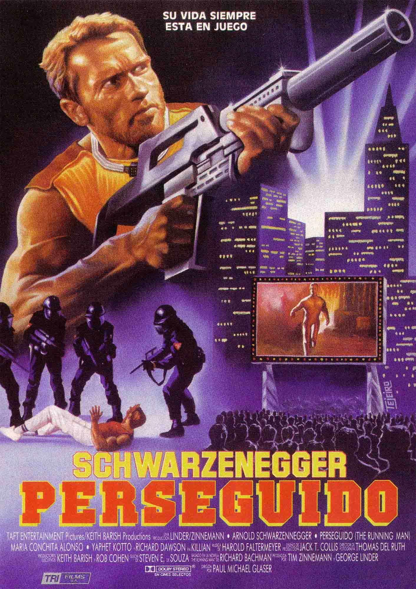 The Running Man Spanish poster