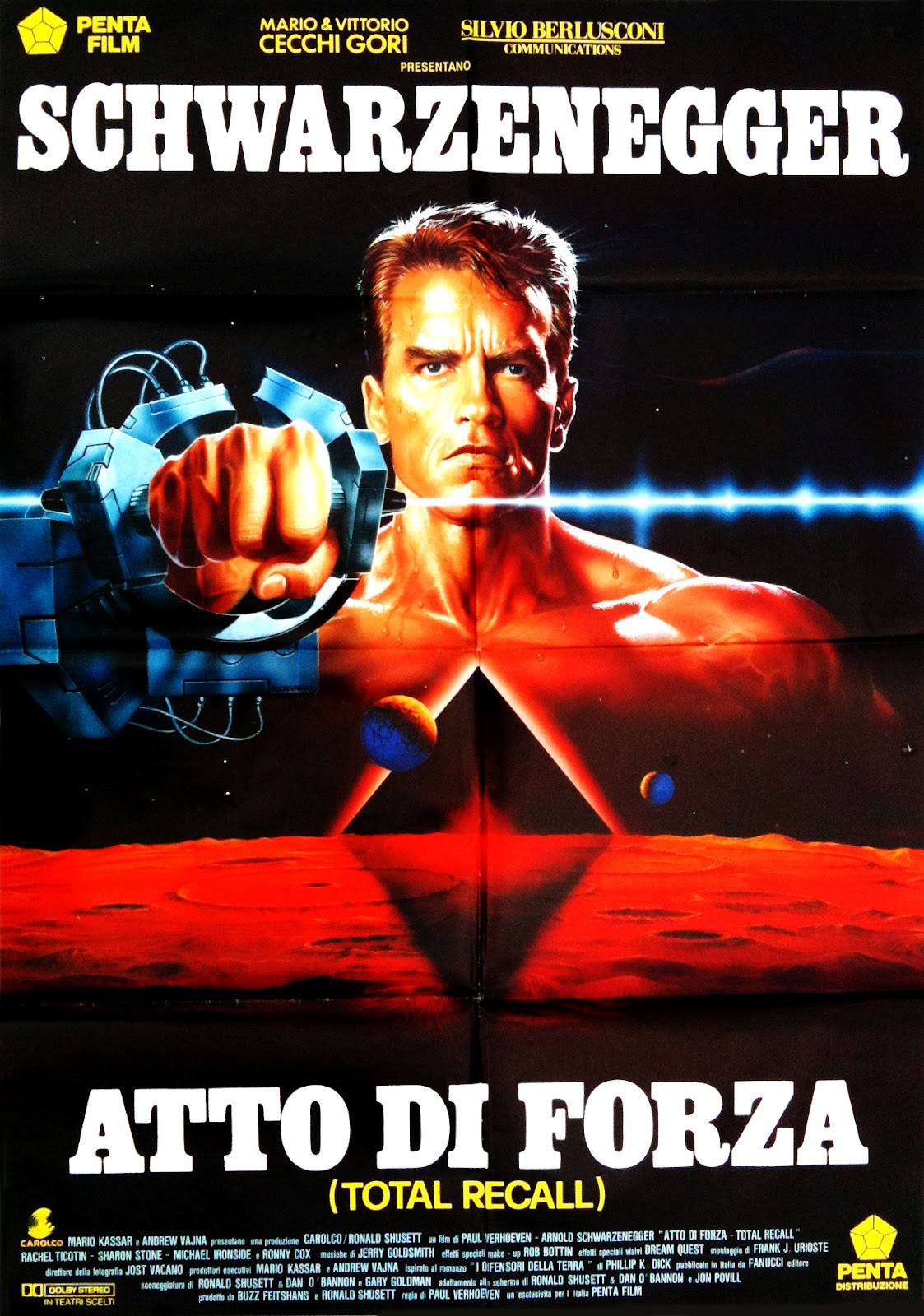 Total Recall Italian poster