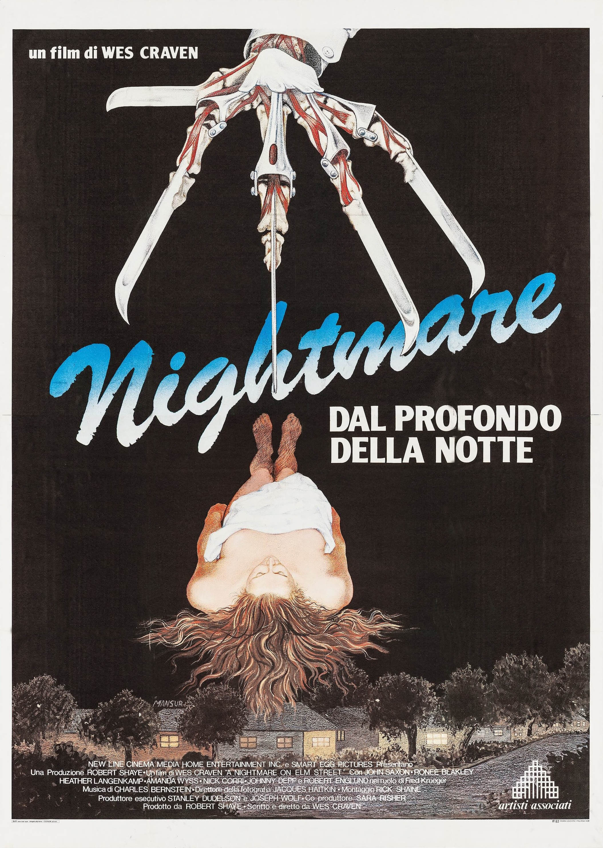 A Nightmare On Elm Street Italian poster