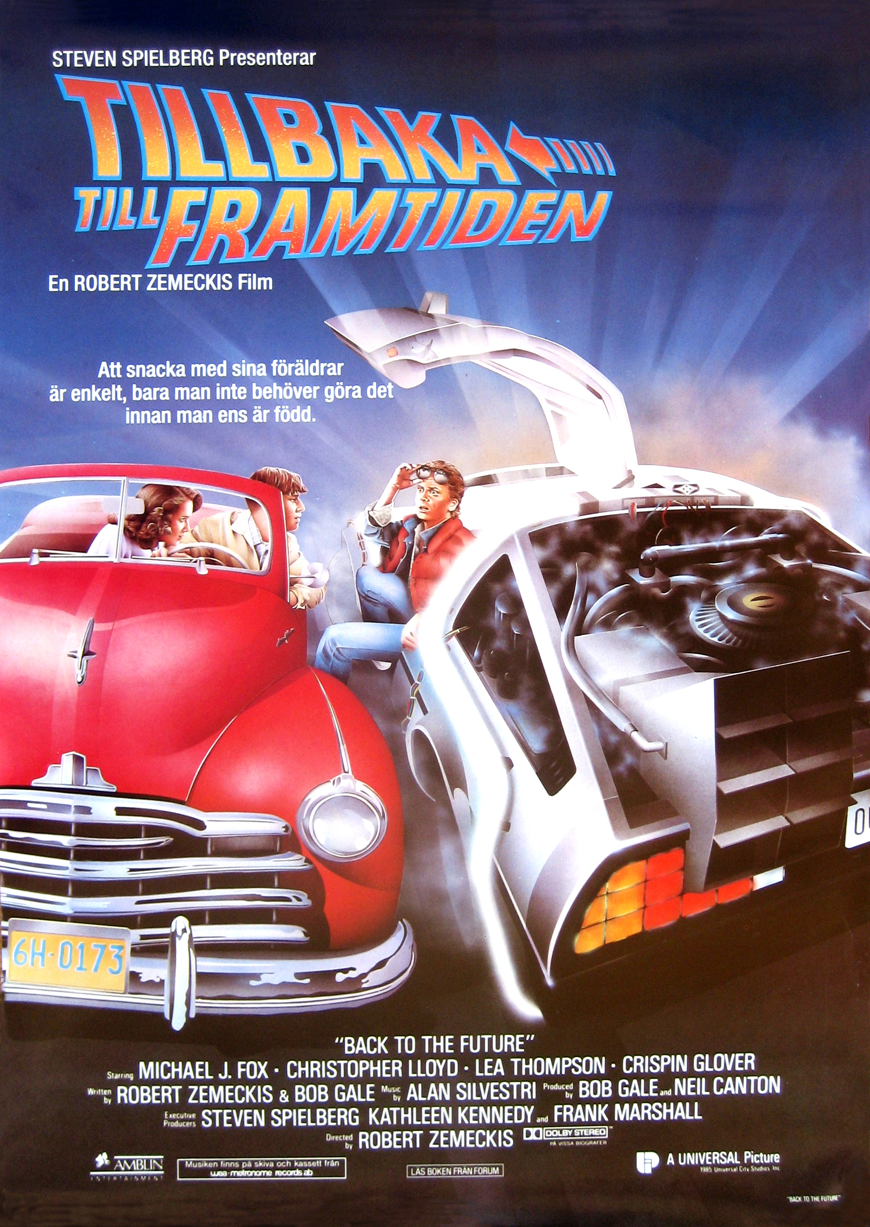 Back to the Future Swedish poster