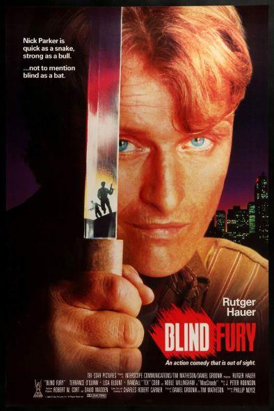 Blind Fury Alternate Poster