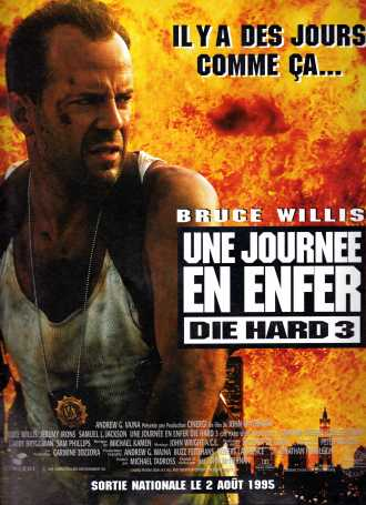 Die Hard With a Vengeance French poster