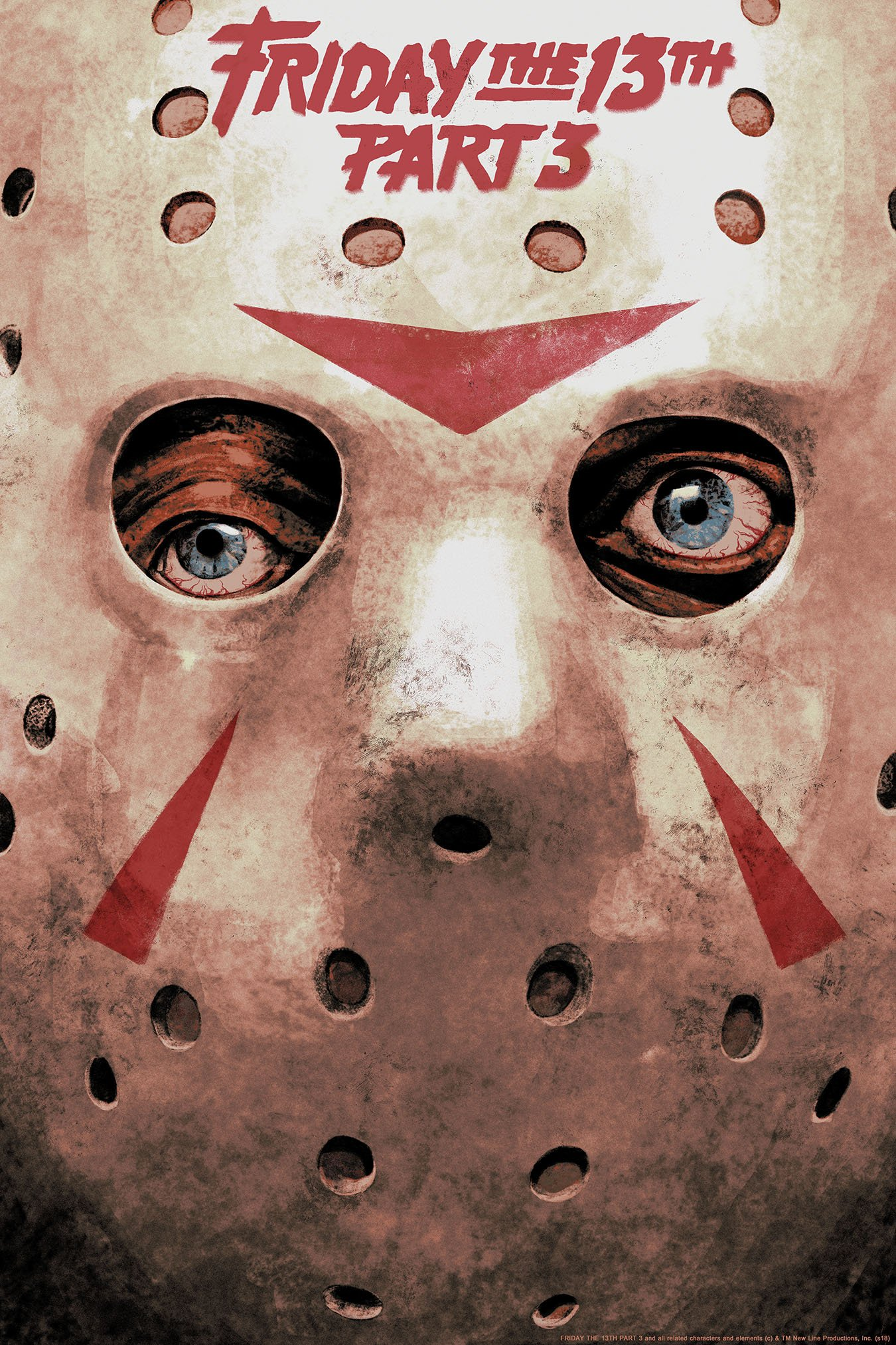Friday the 13th Part 3 Hans Woody poster