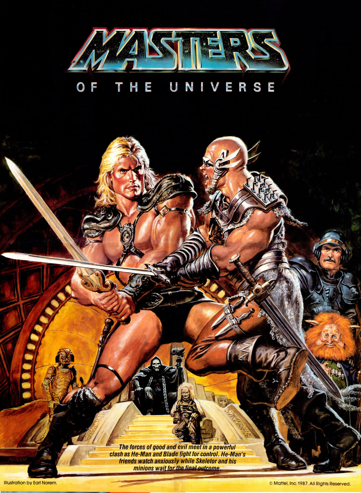 Masters of the Universe magazine poster