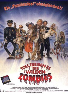 Return of the Living Dead Part II German poster
