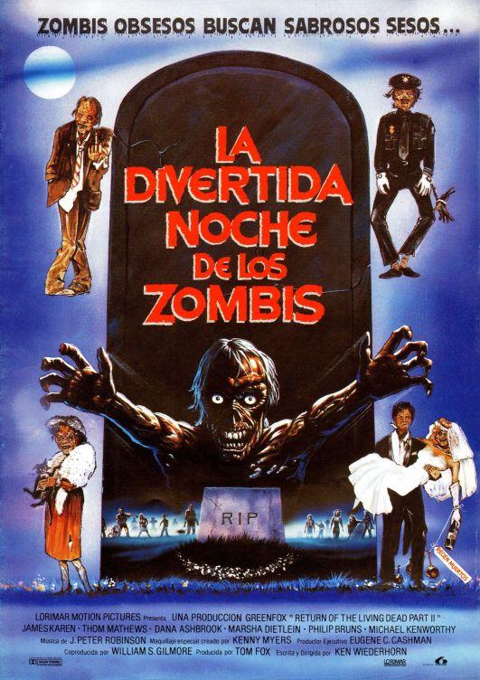 Return of the Living Dead Part II Spanish poster