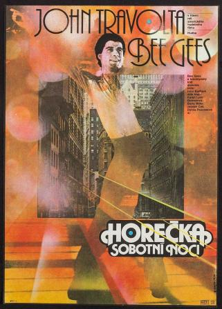 Saturday Night Fever Czech poster