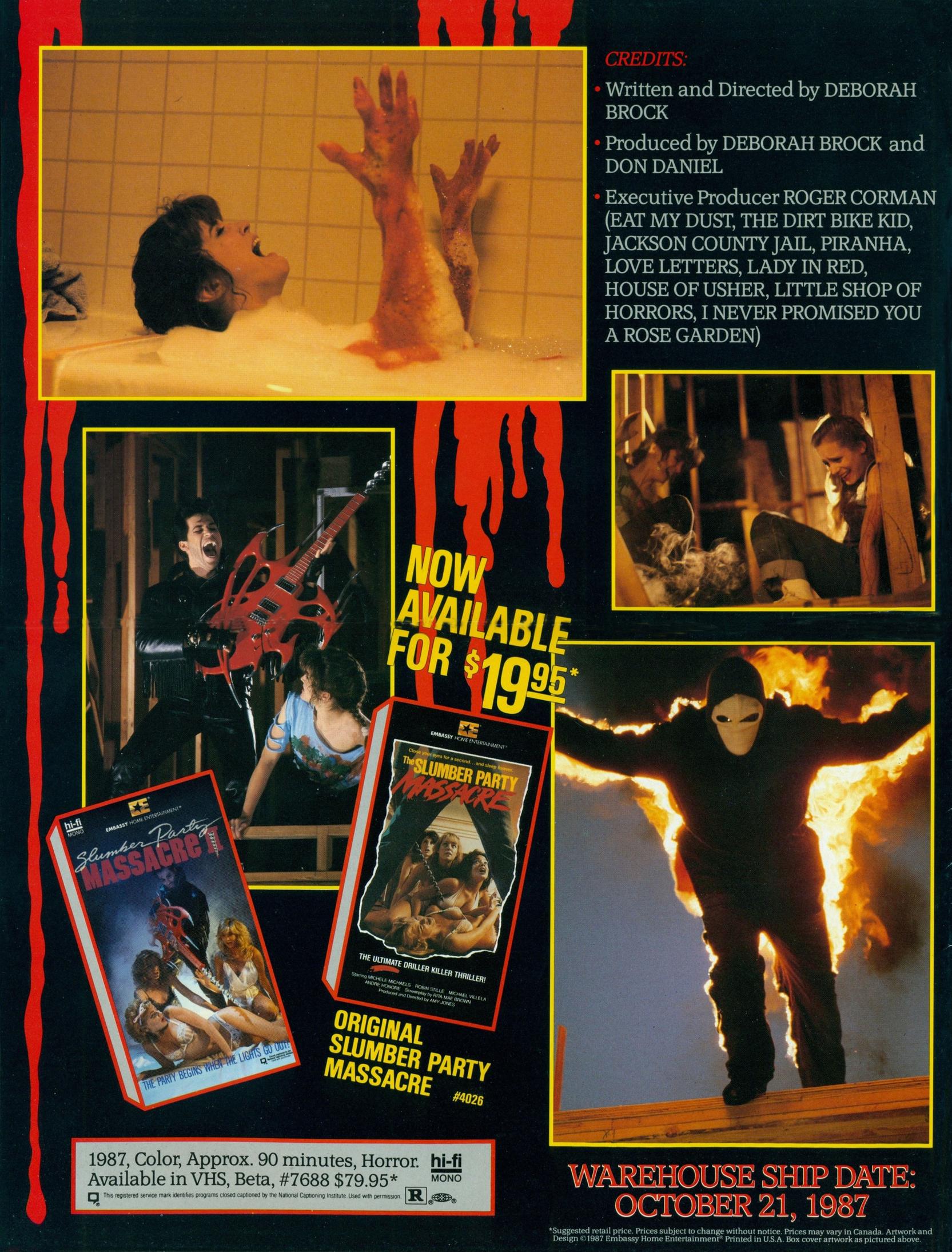 Slumber Party Massacre II VHS ad