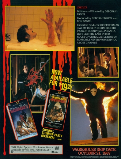 Slumber Party Massacre II VHS ad