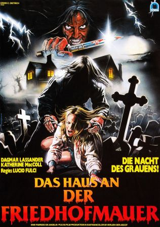 The House by the Cemetery German poster